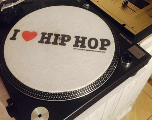 I Love Hip-Hop Slipmat auf Technics 1210er mit Vestax Mixer say say