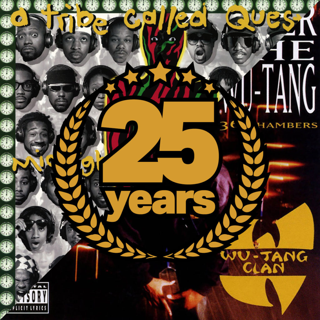 A Tribe Called Quest - Midnight Marauders, Wu-Tang Clan - Enter The Wu-Tang (36 Chambers), 25 Years Anniversary