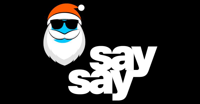say say soulful hip-hop radio X-Mas Logo 800x418px black