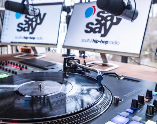 say say soulful hip-hop radio Radio Studio Foto 25 Fotograf Eric Anders