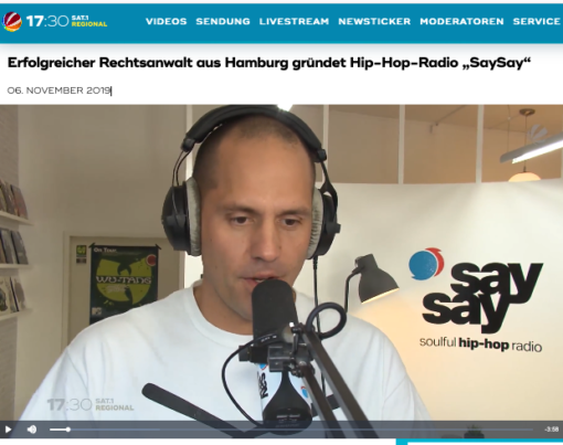 Sat. 1 Regional Beitrag say say soulful hip-hop radio 2019-11-06