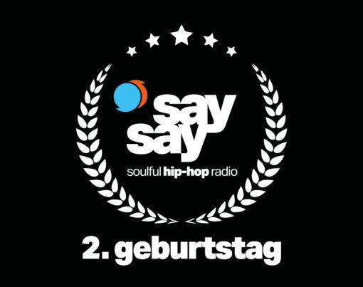 say say soulful hip-hop radio - 2. Geburtstag - Geburtstags-Logo