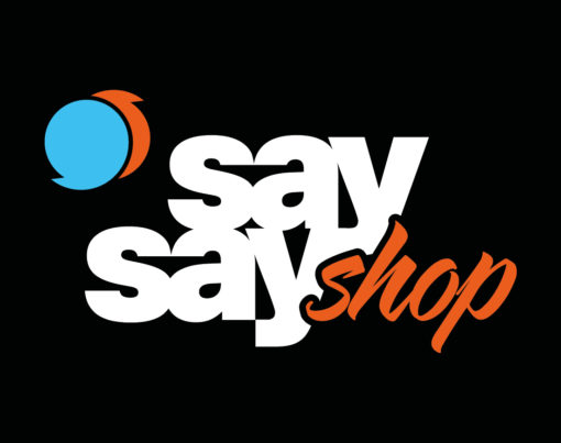 say say shop Logo negativ
