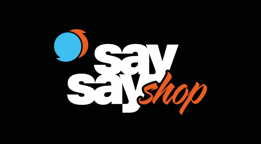 say say shop Logo negativ