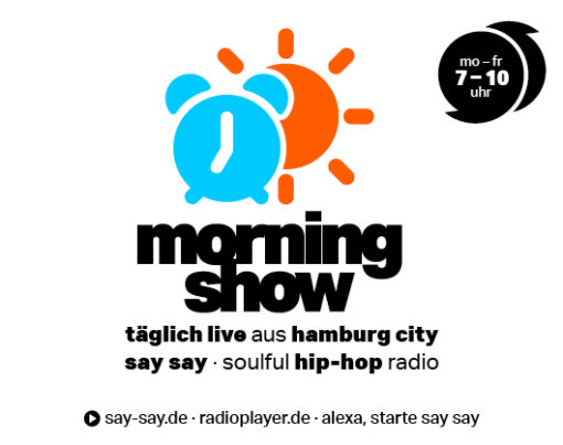 MORNINGSHOW - say say soulful hip-hop radio - Logo positiv 800x418